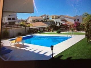 Three bed roomed villa with downstairs area with extra sleeping space if needed.