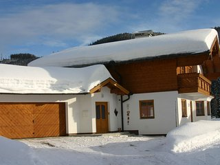Garage and entrance to Chalet to rent in Filzmoos in Ski Amade near Salzburg.