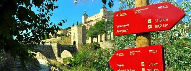 A 5 minutos del apartamento se inicia la Senda Ecológica que rodea la ciudad de Toledo