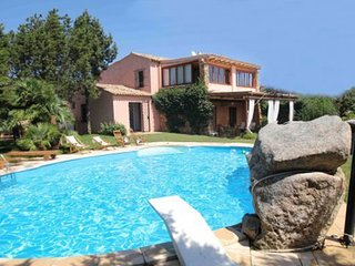 Mediteranean Villa  with private pool  facing  Porto Cervo Marina