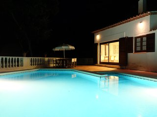 Beautiful villa with private pool, garden & forest, Mercadal