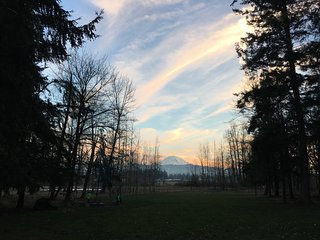 Mt Rainier and beautiful winter sky, taken by one of our favorite repeat guests 1-15-2017