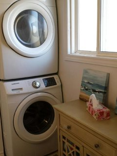 full size washer and dryer for your convenience