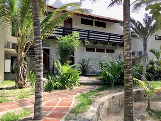 Casa Dunia, secluded yet accessible Oceanfront Home at the end of Tulum Beach