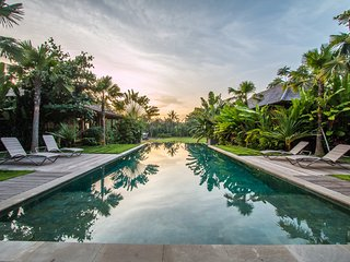 Marika Sawah 4 Bedroom Villa, Rice Field View, Feature Pool and Gardens, Canggu