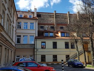 Victoria's studio in heart of Vilnius Old Town with parking