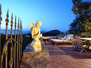Villa Vista, from the terrace a stunning view to  Costa Smeralda and the Islands