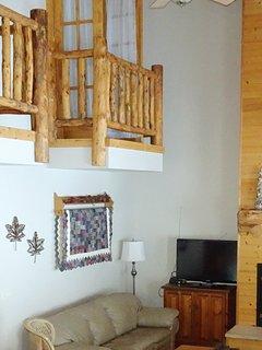 Juliet balcony from upper bedroom