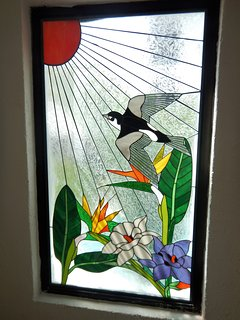 Stain glass window in 1-bedroom condo