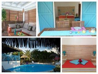 2 min de la plage, piscine, bungalow spacieux, sans vis a vis