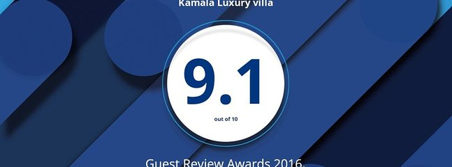 Guest Review Award 2016 - Booking. com