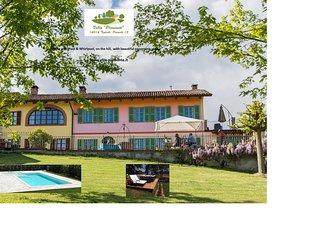 Villa mit Pool in den Weinbergen, Tigliole