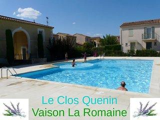 villa T3 avec terrasse jardin piscine dans village, Vaison-la-Romaine