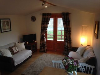 The Lodge, Newmill Farm. A cosy cabin in beautiful countryside.