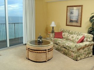 Gulf front 1 bedroom 2 bath sleeps 6 over 900 SQ. Feet 9th Floor Condo