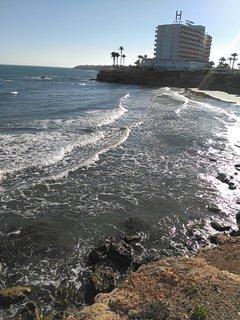 Local Hotel at Zenia Beach.