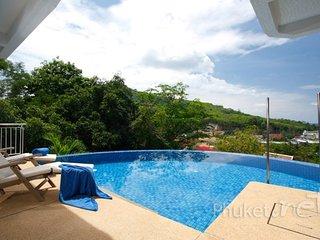 Hilltop Sea View Pool Villa in Kamala
