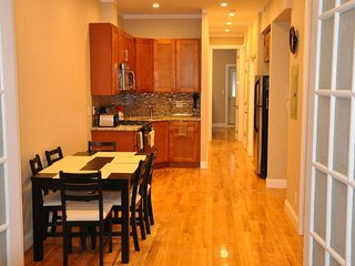 Renovated 4 Bedroom 2 Bath Duplex with Backyard, Steps Away from Trains, Brooklyn