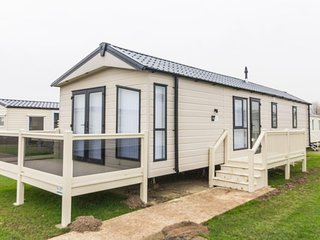 Ref  20214 6 Berth brand new static caravan with decking at Broadland sands .