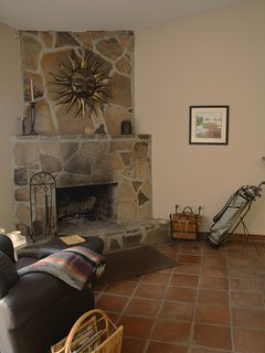 Large living room with fire pace