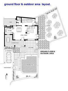 ground floor and outdoor area layout