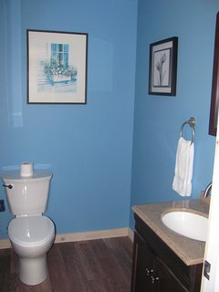 The 1/2 Bathroom is just inside past the mudroom.