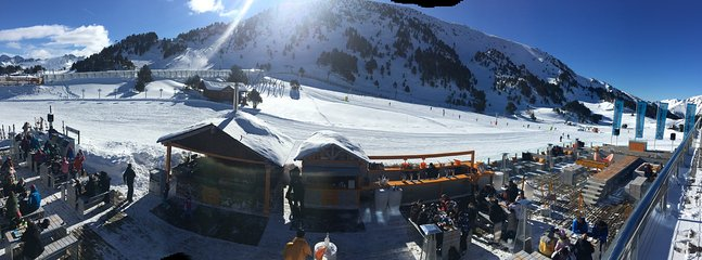 Panoramic view from the steak restaurant at the top of the Gondola, Soldeu.