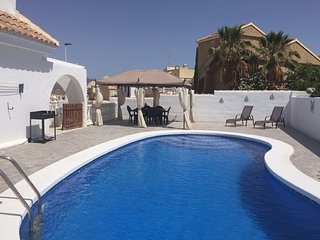 Detached villa with private pool and stunning mountain views, peaceful location