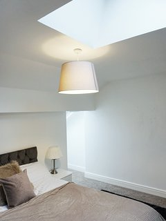 Skylights allow an abundance of natural light to fill our loft room