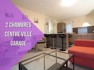 2 CHAMBRES + CENTRE VILLE + GARAGE