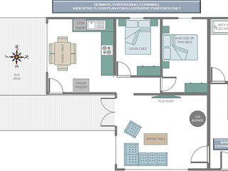 A floor plan to help you organise your stay