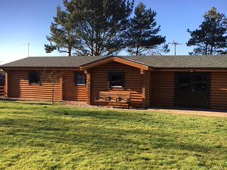 Breaffy Lodges.  A quaint log cabin nestled in the Hertfordshire countryside, Hertford Heath
