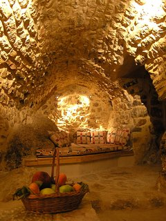 This is the cave used on the 16th cent. to store wine and stable animals.