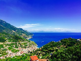 Villa with breathtaking sea view in Ravello, Amalfi Coast.