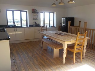 1st floor Kitchen/Dining with views over RoughTor & Bodmin Moor