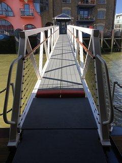 Tower Bridge Houseboat: the brow bridge.