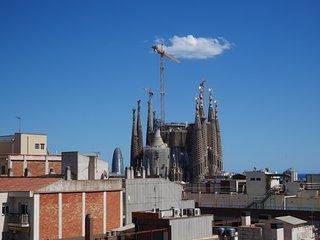 Espectacular ático con terraza con vistas a Sagrada Familia, Barcelona