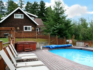 The Moosehead Cabin--your own private lakefront resort. Hot tub, pool, privacy!