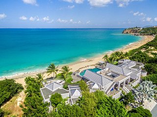 Le Reve at Baie Rouge, Saint Maarten - Private Beach Area, Pool, Tennis Court