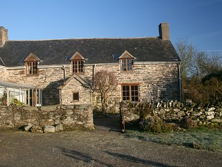 18th century farmhouse in remote, rural location, Betws Gwerfil Goch