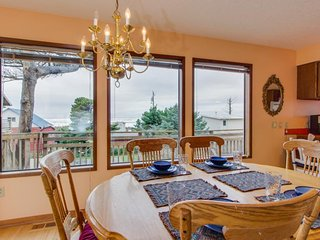 Dog-friendly, oceanview home w/ private hot tub - one block to beach!