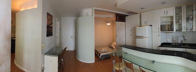 Vista geral do apartamento.