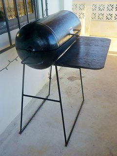 The charcoal grill on our balcony for you to use.