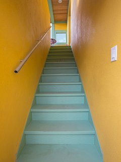 Stairs to 2nd floor unit