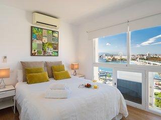 Panoramico apt 1dorm amplio Malagueta Playa, WIFI