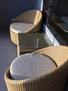 Ratan balcony seating