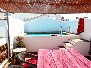 Charming village house with roof terrace pool.