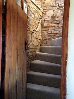 Winding stone staircase