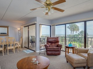 Updated ocean front condo with views of ocean, dunes and pool