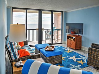 Oceanfront 3BR Myrtle Beach Condo w/ Balcony! *Fall Special Rates!*